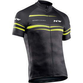 Northwave Origin Short Sleeve Jersey Men black/yellow fluo